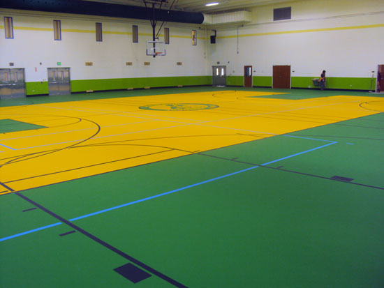 International High School Gym Floor Installation ...