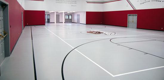 Gymnasium Flooring Seamless Floors For Volleyball