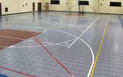 Modular gym floor modular gymnasium flooring for for Sport court flooring cost