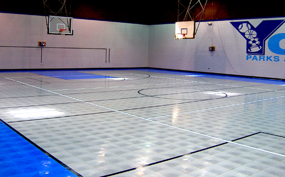 Gym flooring gym floor options for athletic facilities for Sport court cost per square foot