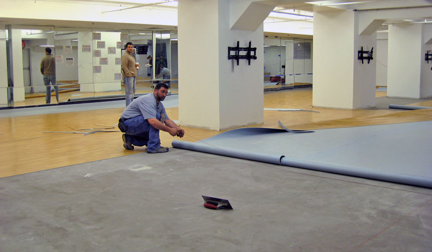 fitness studio flooring renovations how we helped