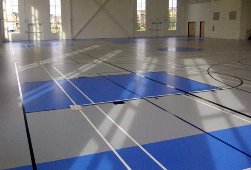 Gymnasium flooring seamless floors for volleyball for Sports flooring