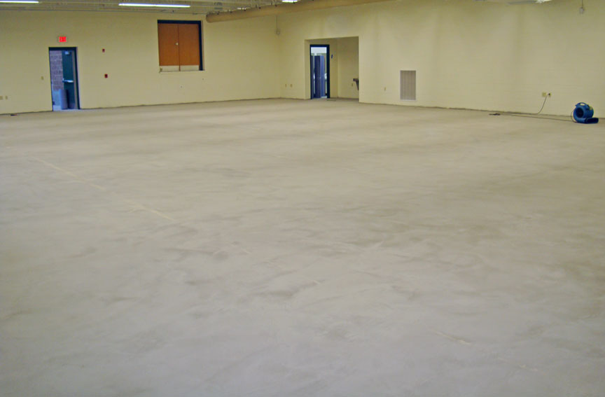 Mutlipurpose Room Athletic Flooring Installed Waiting For High